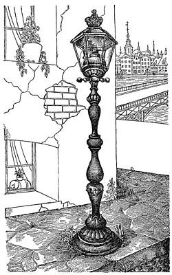 Andersen Old Street Lamp Art Print by Granger