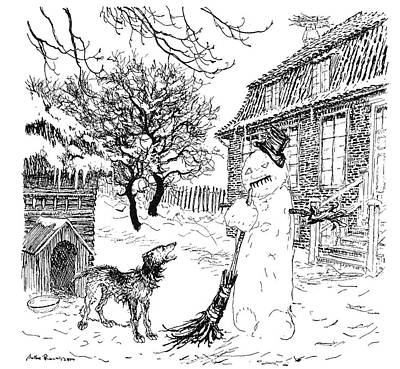 Fairy House Drawing - Andersen The Snow Man by Granger