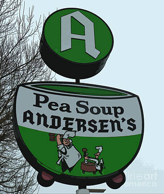 Mixed Media - Andersens Pea Soup Sign Art by Marvin Blaine