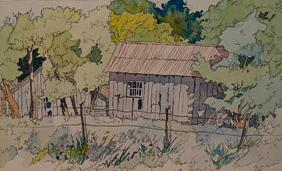 Painting - Anderson Barns by Terry Holliday