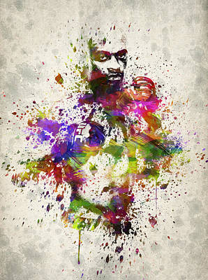 Anderson Silva Art Print by Aged Pixel