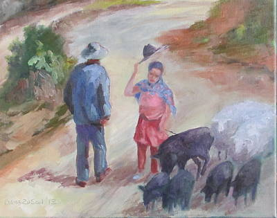 Macho Man Painting - Andes Byway by Susan Richardson