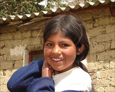 Photograph - Andes Girl by Lew Davis