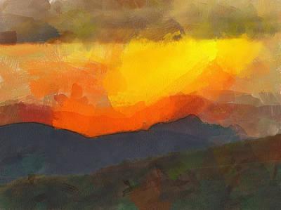 Digital Art - Andes Landscape 3 by Yury Malkov