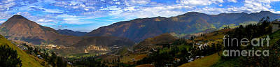 Patchwork Quilts Photograph - Andes Mountains Panorama by Al Bourassa