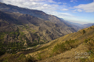 Patchwork Quilts Photograph - Andes Mountains Vista In Ecuador by Al Bourassa