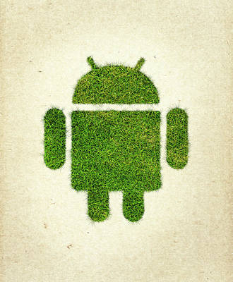 Google Mixed Media - Andoird Grass Logo by Aged Pixel