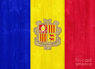 Personalized Name License Plates - Andorra flag by Luis Alvarenga
