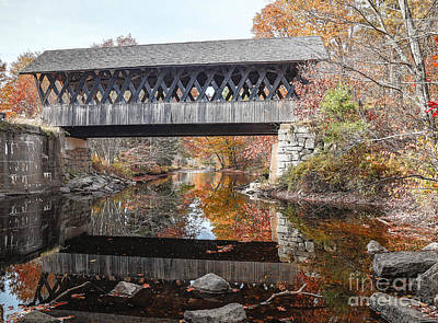 Photograph - Andover Covered Bridge by Edward Fielding