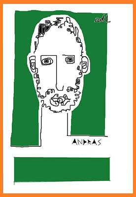 Painting - Andras Green And Orange by Anita Dale Livaditis