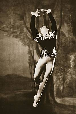 Forties Painting - Andre Eglevsky In Swan Lake, From Grand by French Photographer