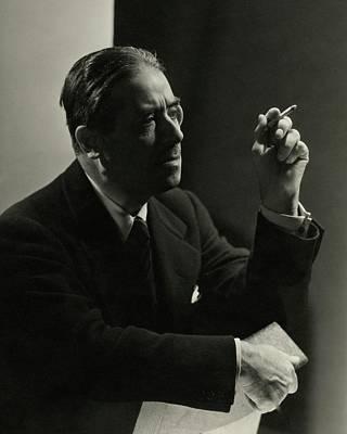Photograph - Andre Geraud Smoking by George Hoyningen-Huene