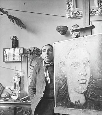 Photograph - Andre Marchand With A Painting by Horst P. Horst