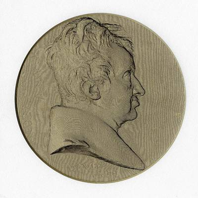 Medallion Photograph - Andre-marie Ampere by Chemical Heritage Foundation