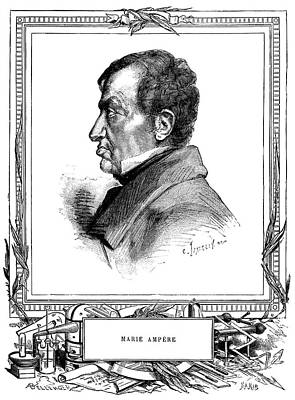 Andre-marie Ampere, French Physicist Art Print by Spl