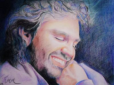 Drawing - Andrea Bocelli by Emily Maynard