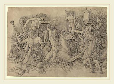 Andrea Mantegna Italian, C. 1431-1506, Battle Of The Sea Art Print