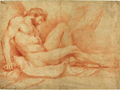 Andrea Sacchi, Italian 1599-1661, Academic Nude Study Art Print