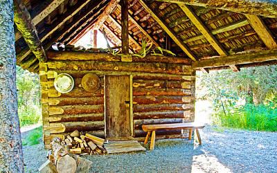 Andrew Berg's Homestead Cabin At Kenai National Wildlife Refuge In Soldotna-alaska Art Print