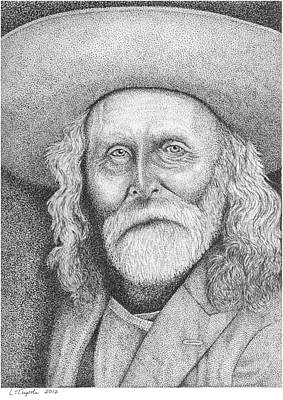 Drawing - Andrew Garcia - Frontiersman by Lawrence Tripoli