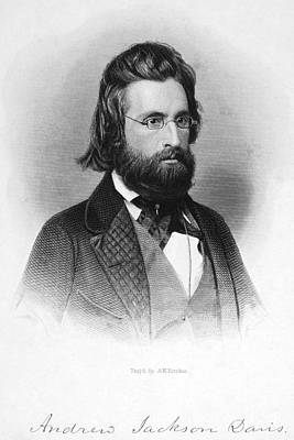 Autographed Photograph - Andrew Jackson Davis by Granger