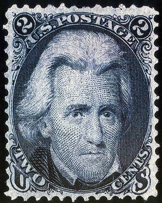 Photograph - Andrew Jackson, U.s. Postage Stamp, 1863 by Science Source