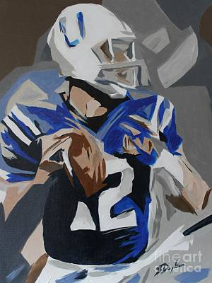 Painting - Andrew Luck 2013 by Steven Dopka