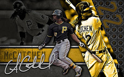 Andrew Mccutchen Mixed Media - Andrew Mccutchen by Marvin Blaine