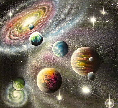 Cosmology Painting - Andromeda Approach by Sam Del Russi