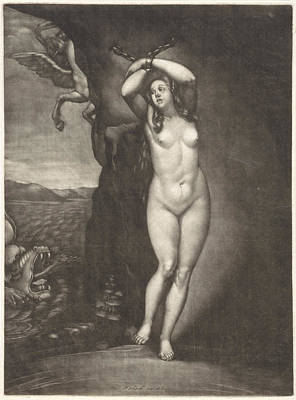 Andromeda Chained To The Rocks, Pieter Schenk Art Print by Pieter Schenk (i)