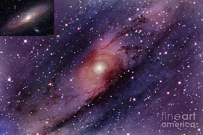 Photograph - Andromeda Galaxy Central Core by John Chumack