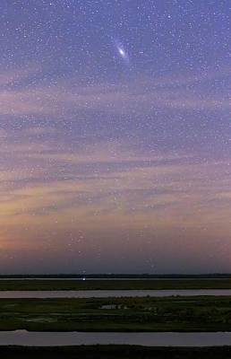 August 2012 Photograph - Andromeda Galaxy Over The Parana River by Luis Argerich