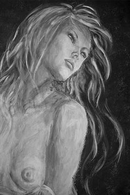 Painting - Andromeda Grayscale by Nik Helbig