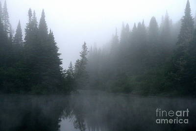 Photograph - Androscoggin River Mist  by Neal Eslinger