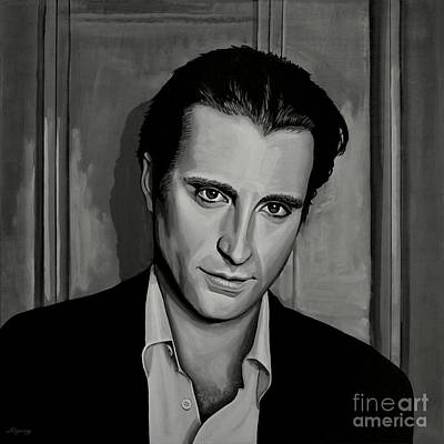 Black And White Art Painting - Andy Garcia by Paul Meijering
