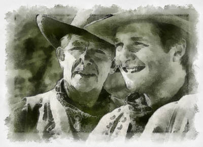 Digital Art - Andy Griffiths Western Days by Paulette B Wright