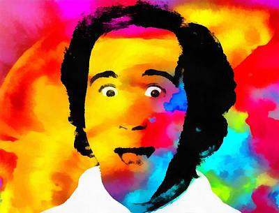 Smiling Mixed Media - Andy Kaufman Pop Portrait by Dan Sproul