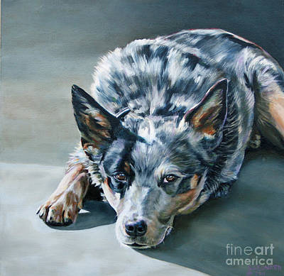 Cattle Dog Painting - Andy by Suzanne Leonard