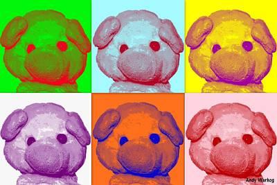 Andy Warhog Art Print by Piggy