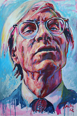 Character Portraits Painting - Andy Warhol by Tachi Pintor