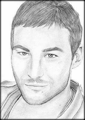 Painting - Andy Whitfield  by Saki Art