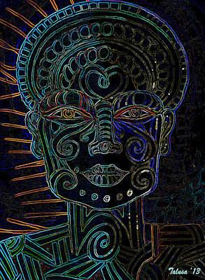 Anencephaly Angel Art Print by Teleita Alusa