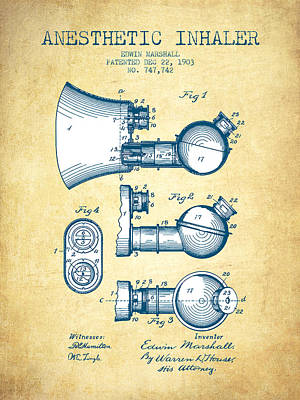 Basketball Patents - Anesthetic Inhaler patent from 1903 - Vintage Paper by Aged Pixel