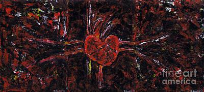 Painting - Aneurysm 2 - Triptych by Kamil Swiatek