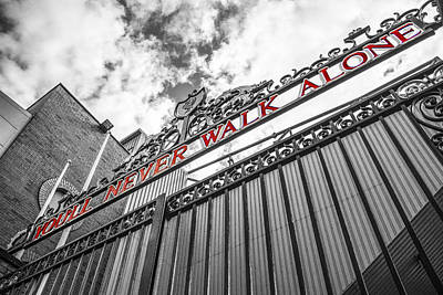Liverpool Photograph - Anfield - The Shankly Gates by Paul Madden