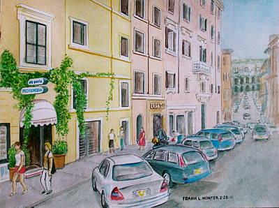 Anfiteatro Hotel Rome Italy Art Print by Frank Hunter
