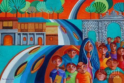 Virgin Guadalupe Wall Art - Painting - Ang Tunay Na Yaman by Paul Hilario