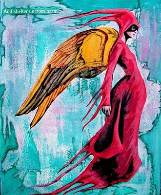 Angel 1 Navigating Ether Art Print by Maria Huntley