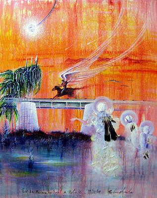 Angel A Caballo Art Print