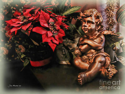 Photograph - Angel And Poinsettia by Joan  Minchak